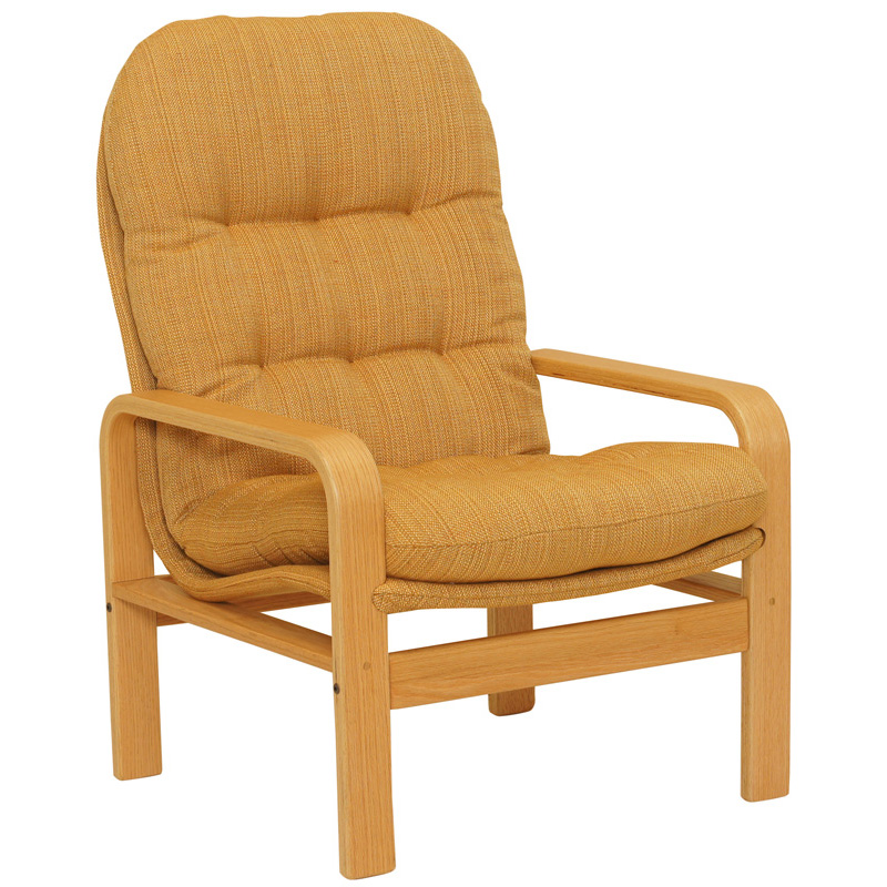 High Back Chair In Goldenrod